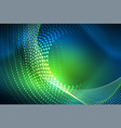 Abstract particles wave background neon motion