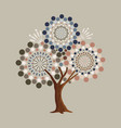 abstract retro shape tree concept vector image vector image
