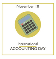 Accounting Day vector image