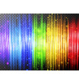 background template with rainbow lights vector image vector image