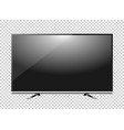 black led tv television screen blank on background vector image vector image