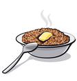 buckwheat porridge vector image vector image