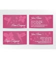 Business Cards Design with Hummingbird on Pink vector image vector image