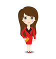 Business woman on white background vector image vector image