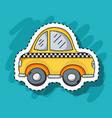 cab transportation element patches design vector image vector image