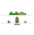 china guilin flat landmarks vector image vector image