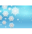 christmas background with 3d style snowflakes vector image vector image