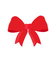 christmas red ribbon xmas symbol vector image vector image