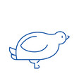 dovequail line icon concept dovequail flat vector image vector image