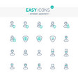 easy icons 52e internet anonymity and privacy vector image