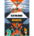 Extreme Sports Poster vector image vector image