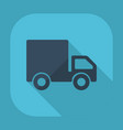 flat modern design with shadow truck vector image vector image