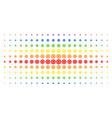 gear spectral halftone pattern vector image vector image