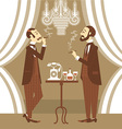 gentlemen in club vector image