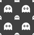 Ghost icon sign Seamless pattern on a gray vector image vector image