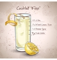 Gin Fizz cocktail vector image vector image