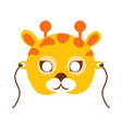 giraffe animal carnival mask childish masquerade vector image vector image