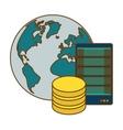 Global database server banner icon