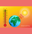 global warminghot temperature design vector image vector image