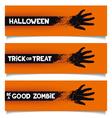 Halloween banners template vector image vector image