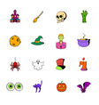 halloween set icons set cartoon vector image vector image