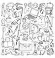 Hand drawn Man Objects Set vector image