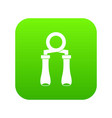 hand grip trainer icon digital green vector image