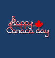 happy canada day lettering isolated on blue vector image vector image