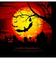 Happy Halloween background with moon and bats vector image vector image