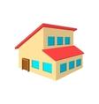 House with a mansard cartoon icon vector image vector image