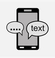 icon mobile chat communications cha vector image