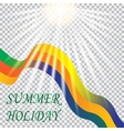 Inscription summer holiday Solar Brazil vacation vector image