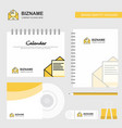 letter logo calendar template cd cover diary and vector image vector image