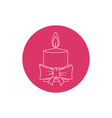 Linear Icon Christmas Festive Candle vector image