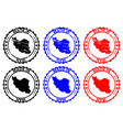 made in iran rubber stamp vector image