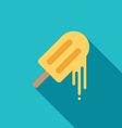 Melting ice cream icon flat design vector image