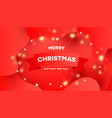 merry christmas background with shining gold vector image vector image