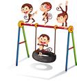 Monkeys and swing vector image