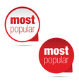 most popular label sign vector image vector image
