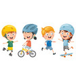 of kids making sport vector image vector image