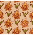 Orange flowers retro seamless pattern vector image vector image