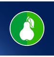 Pear logo fruit diet leaf dieting health food vector image
