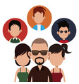 people community society together vector image vector image