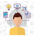 people start up business vector image vector image