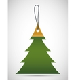 Pine tree tag icon Merry Christmas design vector image vector image