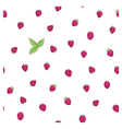Raspberry leaf pattern vector image vector image