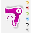 realistic design element hairdryer vector image