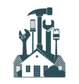 repair the housing symbol vector image vector image
