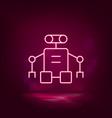 robot exoskeleton neon icon vector image vector image
