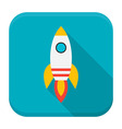 Rocket app icon with long shadow vector image